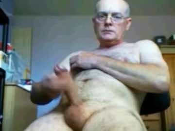 Bald Mature Guy Live Masturbation