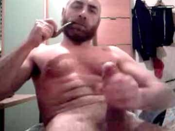 Hairy Daddy Masturbates His Big Dick And Smokes