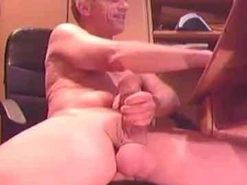 Hung Grandpa Cum On Gay Cam