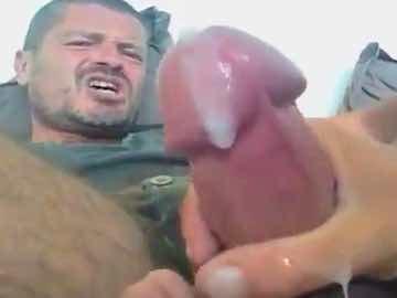 Bearded Mature Guy Gets Handjob On Gay Webcam